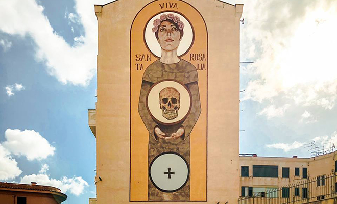 Murales Palermo - Viva Santa Rosalia